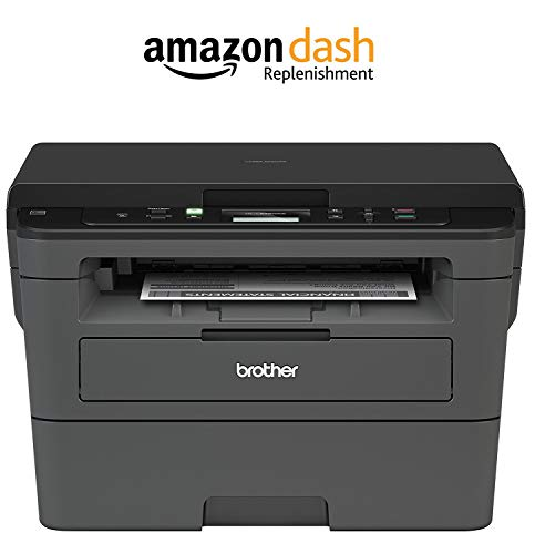 Brother Compact Monochrome Laser Printer, HLL2390DW, Convenient Flatbed Copy & Scan, Wireless Printing, Duplex Two-Sided Printing, Amazon Dash Replenishment Enabled by Brother
