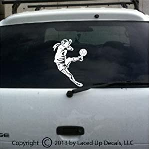 Women's Soccer Player Decal Big