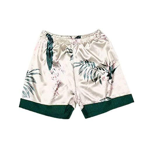 Mujer Patrón Conjunto Pijamas Elastische Manga Blanco Bastante Larga Pijama De Sin Camisola Taille Mangas Solapa Estampadas Shorts Ropa Dormir XqIHwrIEx