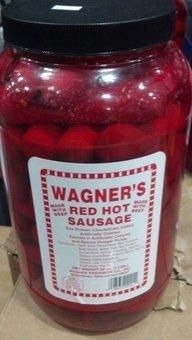 Wagner's Red Hot Beef Sausage 4 Lb (2 Pack) (Sausages Bar Pickled)
