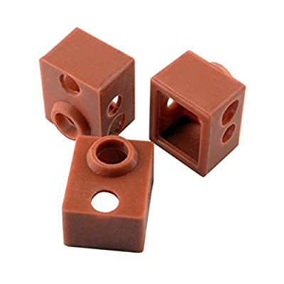 [Gulfcoast Robotics] 3 PCS x Thermal Protection Silicone Sock for V6 3D printer Extruder Hotend.