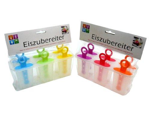 12 Stück Eis am Stiel, Eisformen, Eiszubereiter, in 6 Farben erhältlich, Stieleisformer, Stieleis, Eis zum selber machen