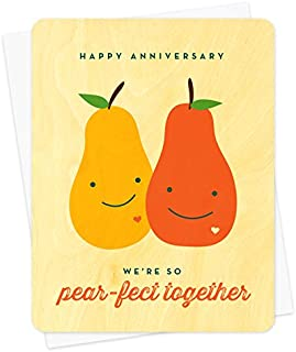product image for Pear-fect Anniversary Wood Card by Night Owl Paper Goods