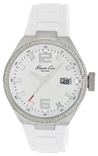 Kenneth Cole New York Women s Japanese Quartz Stainless Steel Case Silicone White, Model KC4811