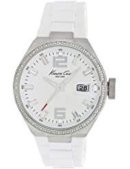 Kenneth Cole New York Mens KC4811 Classic White Dial & Silicone Link Bracelet Watch