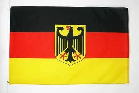AZ FLAG Bandera de Alemania con Aguila 250x150cm - Gran Bandera Alemana con Armas 150 x 250 cm: Amazon.es: Jardín