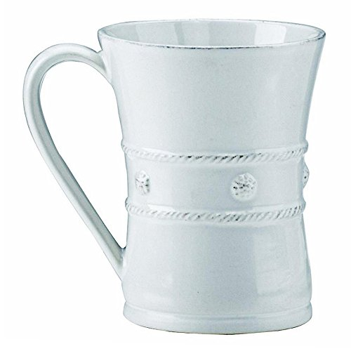 Juliska Berry and Thread Ceramic Coffee Mug, Whitewash, 12 Ounces