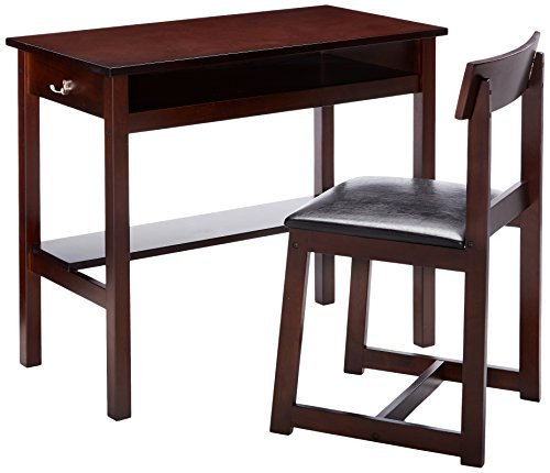 ACME Furniture 92044 2 Piece Vester Desk & Chair, Black & Espresso by Acme Furniture