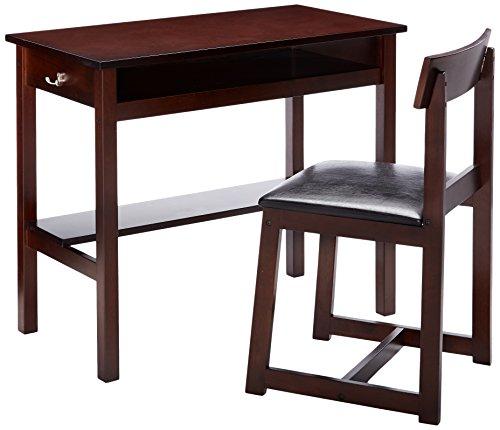 Acme Furniture 92044 2 Piece Vester Desk & Chair, Black & Espresso
