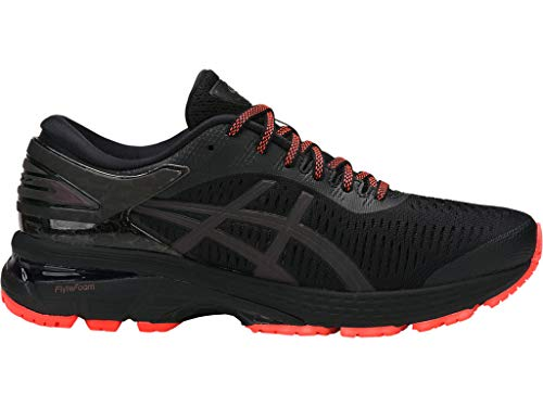 ASICS Women's Gel-Kayano 25 Lite-Show Running Shoes, 7.5M, Black/Black