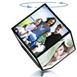 "Atorakushon Rotating Photo Frame 360 Degree Magical 4""X4"" Battery Operated Photo Cube Frame Home Decor And Gift"
