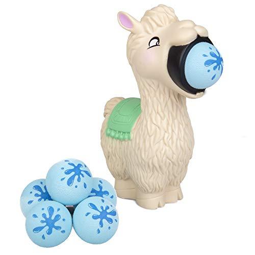 Hog Wild Llama Popper Toy - Shoot Foam Balls Up to 20 Feet - 6 Balls Included - Age 4+