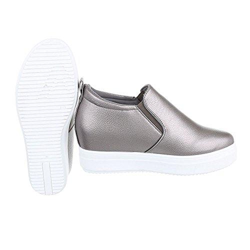 Pantofole 6689 Silber Donna Ital Y Grau Design pwXtgAq5