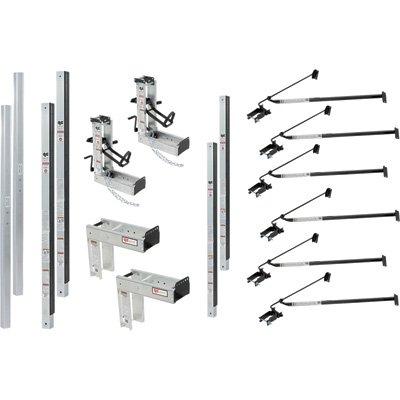 Qual-Craft Aluminum Pump Jack Scaffolding System Starter Kit - 36Ft., Model# 3016