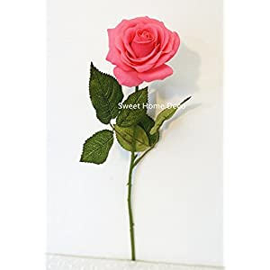 Sweet Home Deco 17'' Real Touch Rose Artificial Single Spray 62