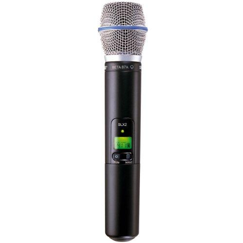 (Shure SLX2/BETA87A Handheld Transmitter with BETA 87A Microphone, J3)