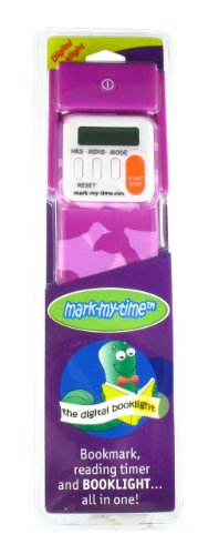 Mark My Time Camoflauge Bookmark with LED Light - Purple from Mark-My-Time