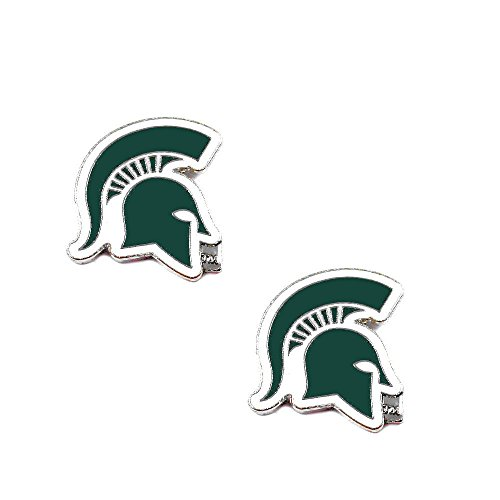 Michigan State Spartans Earrings - Michigan State Spartans Post Stud Logo Earring Set Ncaa Charm