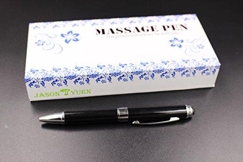 2 in 1 Vibration & massage ballpoint pen - mini Massage Tip Pen with Gift Box - Multifunction Electronic Pen (Black) by JASON YUEN (Image #2)