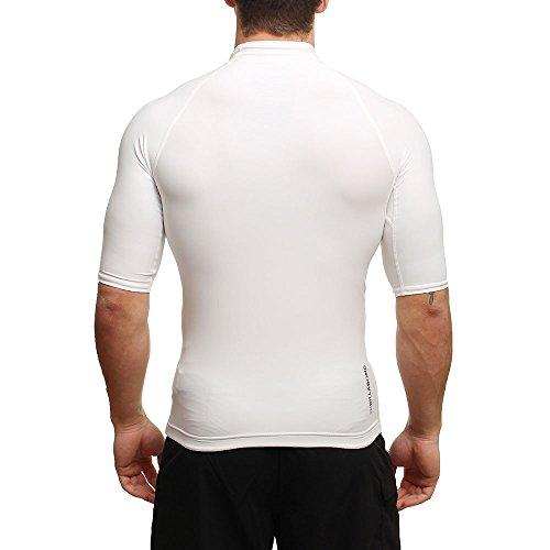 2016 Billabong Superwave Short Sleeve Rash Vest in White W4MY04