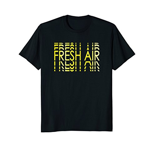 Mens Fresh Air Lines Optic Yellow Foamposites T-Shirt 2XL Black
