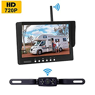 Amtifo Digital Wireless Backup Camera AM-W70 with Stable Signal, HD 720P 7'' Monitor and Rear View Camera Kit for Cars,Pickups,Trucks,Campers: Car Electronics