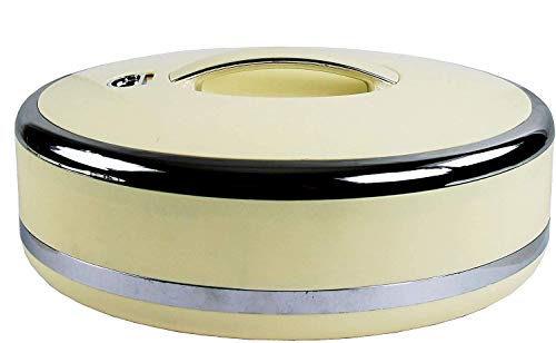 Hot Pot Insulated Casserole Hot Pack Food Warmer 5L Ivory/Sliver (Oval Shaped) – Serving Bowl, Large Soup and Salad Bowl