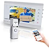 IP Video Doorbell Intercom with 1x Wireless Montior and 1x Wired Doorbell Camera, Night Vision and Remote Unlock by DEATTI