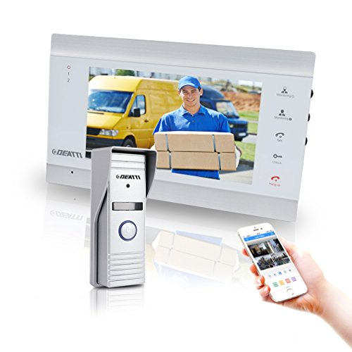 Wireless Video Doorbell Intercom with Montior, Night Vision and Remote Unlock From DEATTI