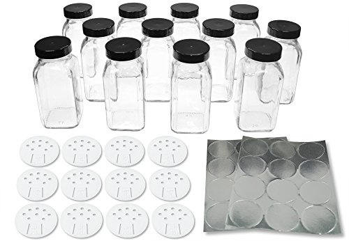 Deluxe Square Bottles Plastic SpiceLuxe