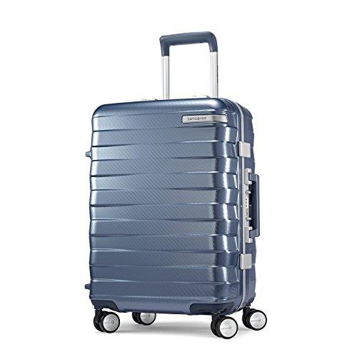 Lock Samsonite Luggage (Samsonite Framelock Hardside Carry On Luggage with Spinner Wheels, 20 Inch, Ice Blue)
