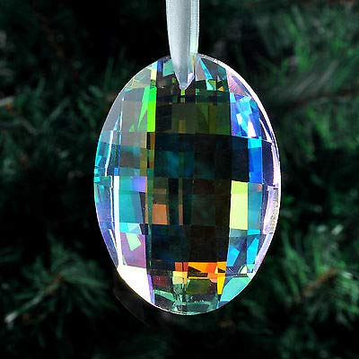 FidgetKute Colorful Shaped Chandelier Glass Crystals Lamp Prisms Parts Hanging Drop Pendant Egg-Shaped 63mm One Size