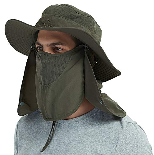 Outdoor Sun Protection Fishing Cap Neck Face Flap Hat