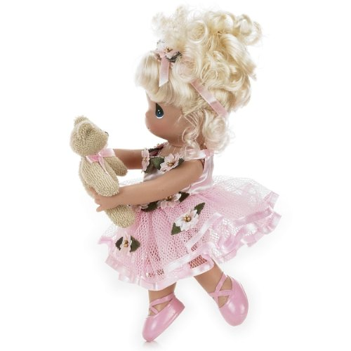 Precious Moments Dolls by The Doll Maker, Linda Rick, Dance with Me, Ballerina, Blonde, 9 inch (Blonde Ballerina)