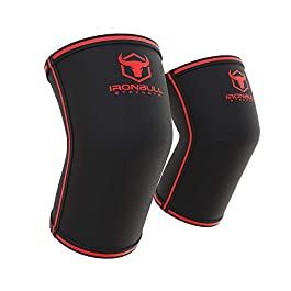 Iron Bull Strength Elbow Sleeves 5mm (1 Pair) – High Performance Elbow Sleeve Support for Weightlifting, Weight Training & Powerlifting – Best Compression Straps – for Men and Women