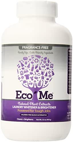 Eco Me Natural Non-Toxic Laundry Whitener Brightener, Healthy Fragrance-Free Scent, 32 Ounce