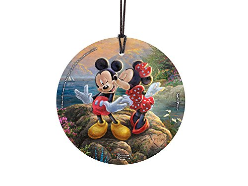 Trend Setters Disney Thomas Kinkade Artwork Mickey and Minnie Sweetheart Cove Starfire Prints Hanging Glass (Christmas Minnie And Ornaments Mouse Mickey)