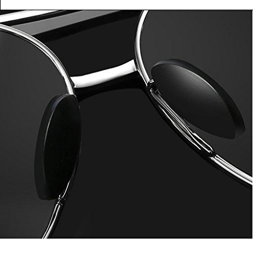 Ligero C UV400 de Hombre polarizado Marco Sol Color de Metal C Deportes protección Peso Gafas Aviador w7qYdw6