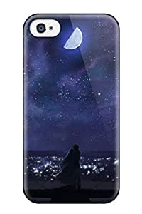 outer space stars anime Anime Pop Culture Hard Plastic iPhone 4/4s cases 9579458K586845700