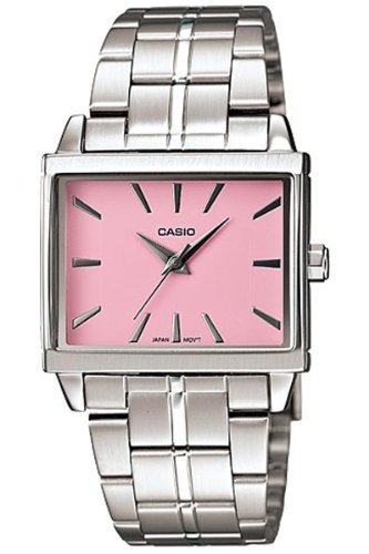 Casio Women's LTP1334D-4A Silver Stainless-Steel Quartz Watch with Pink Dial (Stainless Pink Dial)