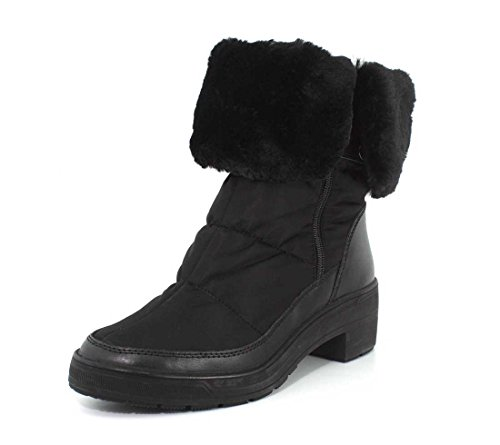 Black Boot Womens Weatherproof Pajar Faux Ventura Fur YC1wxqfU