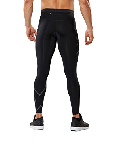2XU Men's MCS Run Compression Tights, Black/Nero, Small by 2XU (Image #2)