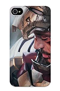 New Style Runandjump Iron Man Men 3 Armor Helmet Movies Premium Tpu Cover Case For Iphone 4/4s