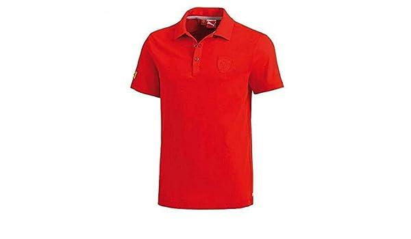 FERRARI Polo clásico Hombre Rojo Rojo Talla XXL: Amazon.es ...