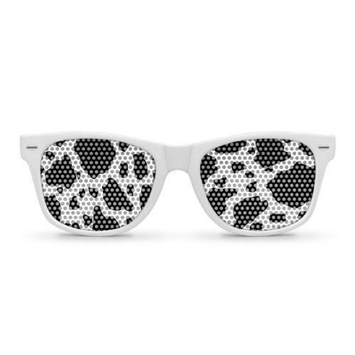 COW White Retro Party - Cow Sunglasses