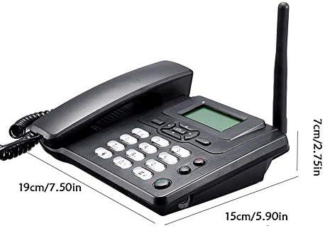 Euopat Teléfono Inalámbrico, Teléfono Comercial gsm Teléfono De Escritorio Tarjeta SIM Móvil Home Office Teléfono De Escritorio: Amazon.es: Electrónica
