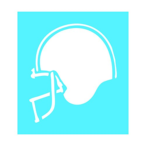 Auto Vynamics - STENCIL-FOOTBALL-HELMET - Detailed Football Helmet Individual Stencil from Football Silhouettes Stencil Set! - 9.5-by-10-inch Sheet - Single Design
