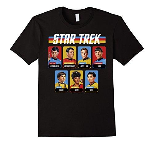 Star Trek Original Series Crew Retro Rainbow Graphic -