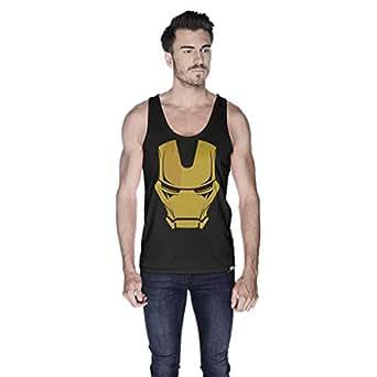 Creo Ironman Super Hero Tank Top For Men - Xl, Black