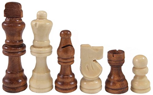Set of Complete Wooden Chess Pawns, Wooden Replacement Chess Pieces - Chess Knight French Pieces